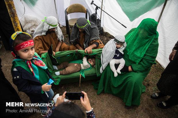 مراسم عزاداری روز عاشورا در دولت آباد و لیمون ساری