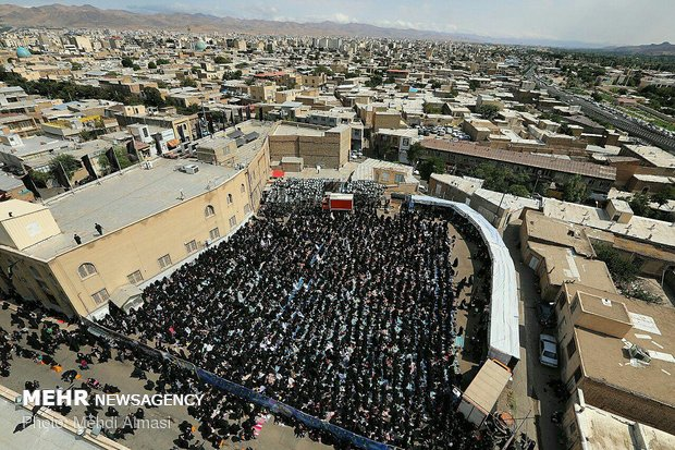 Ashura prayers in Zanjan
