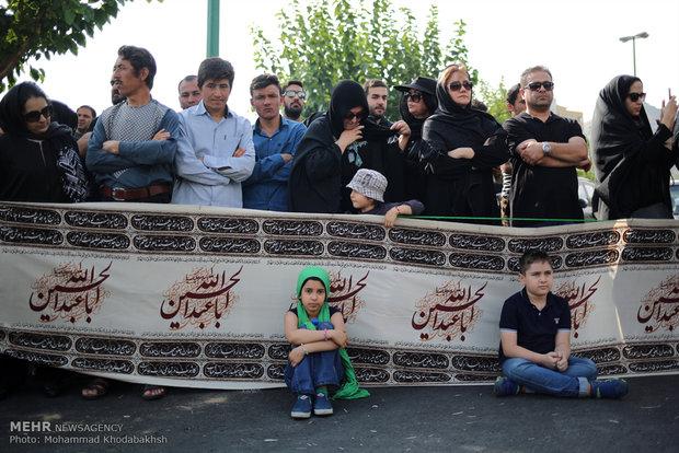 آیین خیمه سوزان در ولنجک تهران