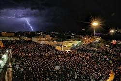 مراسم شام غریبان در حسینیه اعظم زنجان