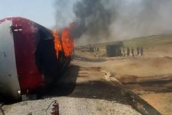 برخورد تانکر و اتوبوس در افغانستان با ۱۵ کشته
