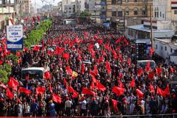 راهپیمایی گسترده یمنیها در روز عاشورا