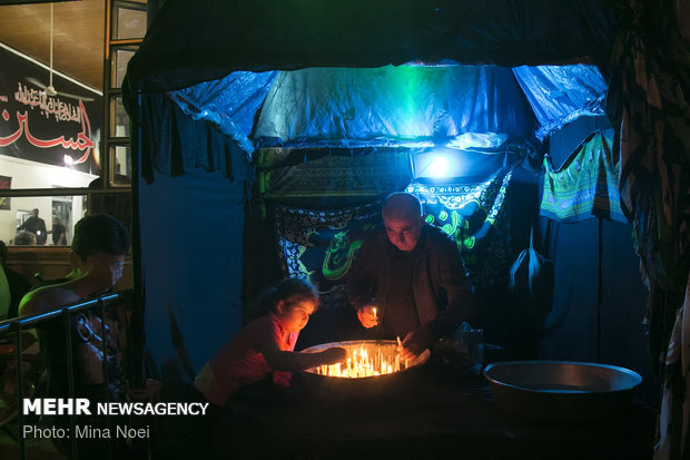 مراسم شام غریبان در آستارا