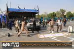 لحظة اعتداء الإرهابيين في الأهواز خلال البث التلفزيوني /فيلم