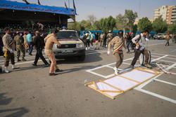 اللحظات الاولى من الهجوم الإرهابي على العرض العسكري في الاهواز