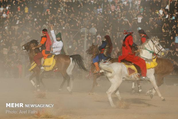 مراسم خیل عرب و خیمهسوزان در نوش آباد
