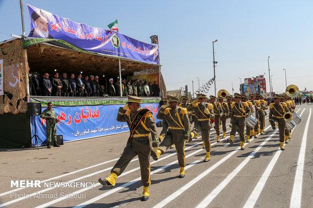 رژه ۳۱ شهریور نیروهای مسلح در شاهرود