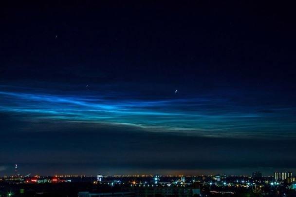عکس بالن ناسا از ابرهای قطبی