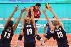 والیبال ایران - امریکا