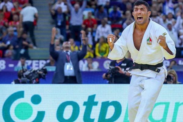"""لاعب الجودو الإيراني """"ملائي"""" يحرز الميدالية الذهبية في منافسات الجائزة الكبرى بالصين"""