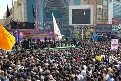 ایران میں دہشت گردانہ حملے کے شہداء کی تشییع جنازہ