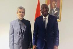 ساحل العاج تبدي رغبتها بتطوير العلاقات التجارية والاقتصادية مع ايران