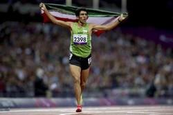 پیمان نصیری مدال طلای ۱۵۰۰ متر را برگردن آویخت