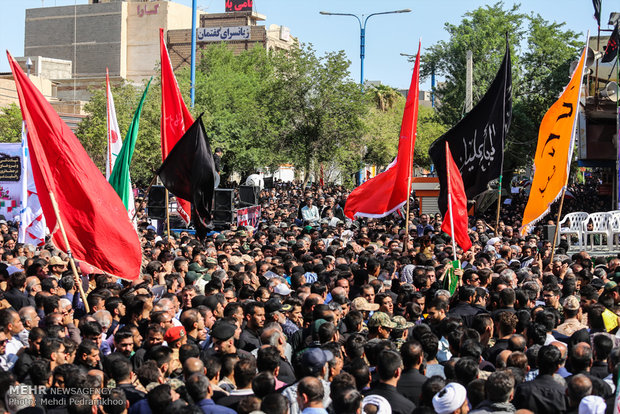 Ahvaz holds funeral for 24 martyrs of terror attack