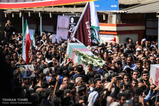 Funeral procession held for Ahvaz terror attack victims