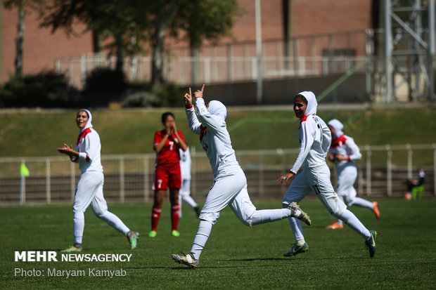 دیدار فوتIran-Jordan women play friendly match