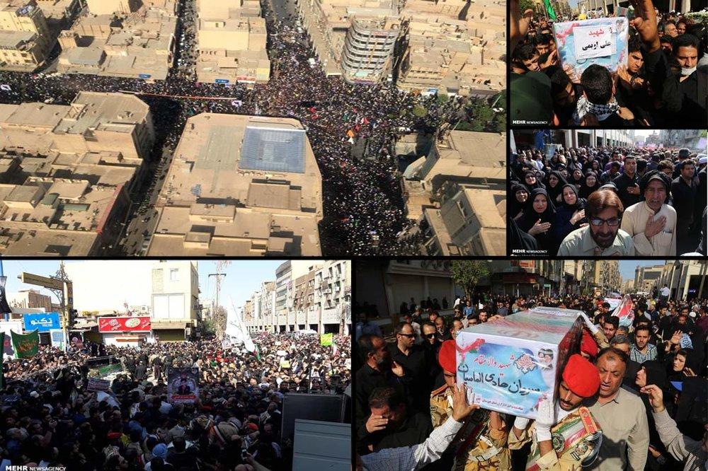 Iranians mourn Ahvaz terrorist victims in massive funeral