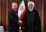 Iranian President Rouhani meets IOC President Bach