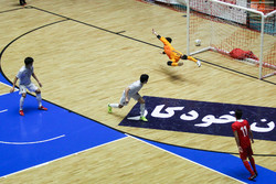 Iran vs Japan futsal match in intl. tournament