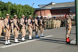 صبحگاه مشترک نیروهای مسلح در شهرستان مرزی بندر آستارا