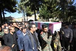 تشییع پیکر شهید گمنام در مرکز مین زدایی وزارت دفاع