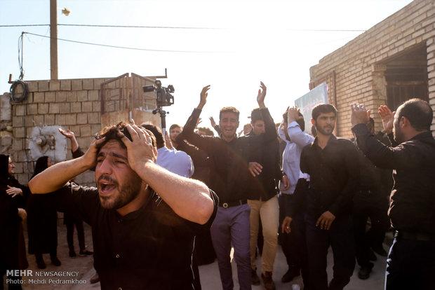 تشییع پیکر سردار شهید حسین منجزی در شوشتر و خاکسپاری در گتوند