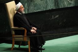 Ruhani'nin BM Genel Kurulu'ndaki konuşmasından kareler