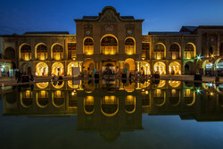 A view of the 19th-century Masoudieh Palace, a tourist destination in downtown Tehran.