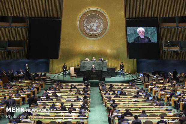 سخنرانی حسن روحانی در سازمان ملل