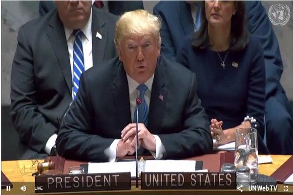 Trump, BM Güvenlik Konseyi'nde konuşuyor
