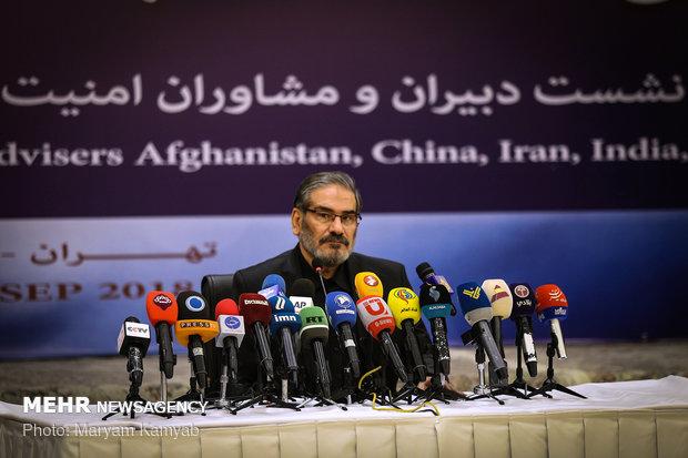 نشست خبری دبیر شورای عالی امنیت ملی