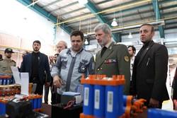 افتتاح دو مجتمع تولید باتری های صنعتی با حضور وزیر دفاع