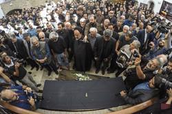 مرحوم یداللہ صمدی کی تشییع جنازہ
