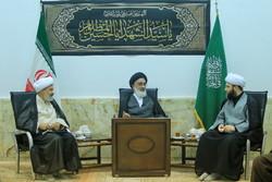 لقاء رئيس منظمة الإعلام الإسلامي مع مراجع الدين في مدينة قم