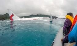 مائیکرونیشیا میں مسافر بردار طیارہ لینڈنگ کے دوران سمندر میں جا گرا