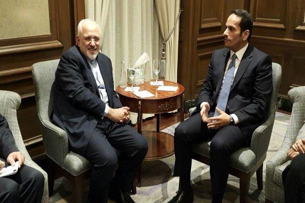 نیویارک میں ایران اور قطر کے وزراء خارجہ کی ملاقات