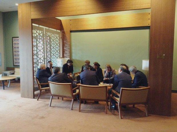 وزير الخارجية الايراني ونظيره الالماني يتباحثان حول الاتفاق النووي