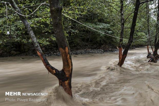 Flood hits Talesh, Northern Iran