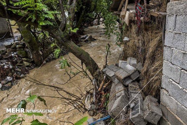 خسارت های سیل در روستاهای تالش