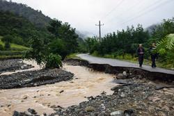 خسارات بارش شدید باران و طغیان رودخانه ها در شهرستان تالش