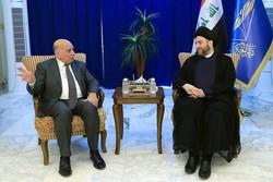 رایزنی «حکیم» و «فؤاد حسین» درباره پرونده انتخاب رئیس جمهوری عراق