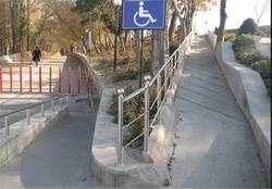بهبود ۵۳ درصدی فضاهای شهر کرمانشاه برای معلولان