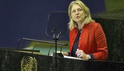 آسٹریا کی وزیر خارجہ کا اقوام متحدہ میں عربی زبان میں خطاب