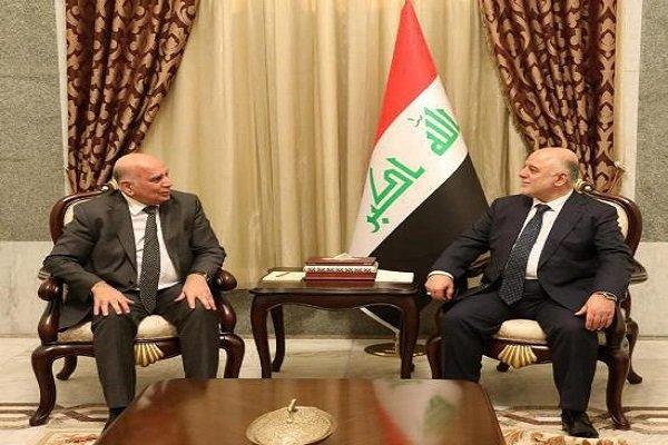 رایزنی العبادی و «فؤاد حسین» درباره پرونده انتخاب رئیسجمهوری