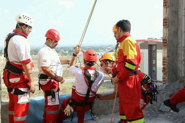 مانور اطفاء حریق و امداد و نجات در گرگان برگزار شد