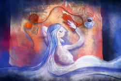 پس از جنگ زنان بافتنی میبافند/ او رویا میبافد تا آبی دریا