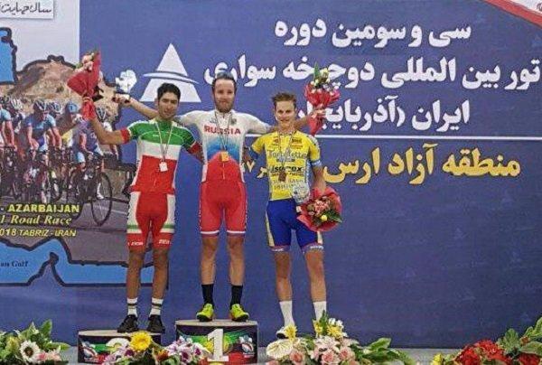 الروسي سوكولوف يفوز بالمرحلة الثانية من سباق ايران - أذربيجان الدولي