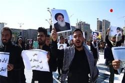 راهپیمایی وحدت دانشجویان ایرانی و عراقی در مشهد