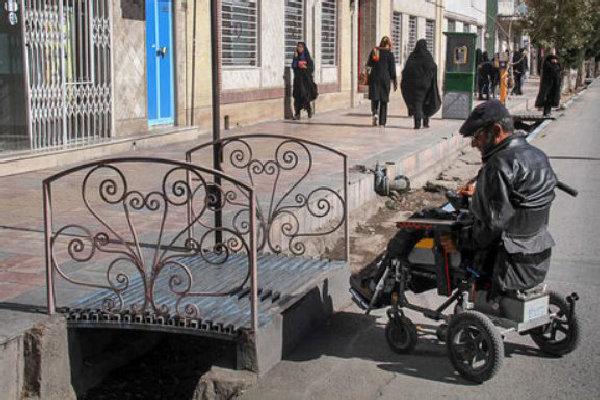 فضاسازی و طراحی شهری شیراز  مناسب معلولین نیست