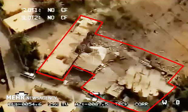 IRGC publish pics of targeted area in Syria's Abu Kamal